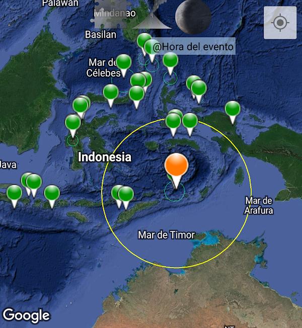 ÚLTIMA HORA: fuerte sismo en el mar de Indonesia.