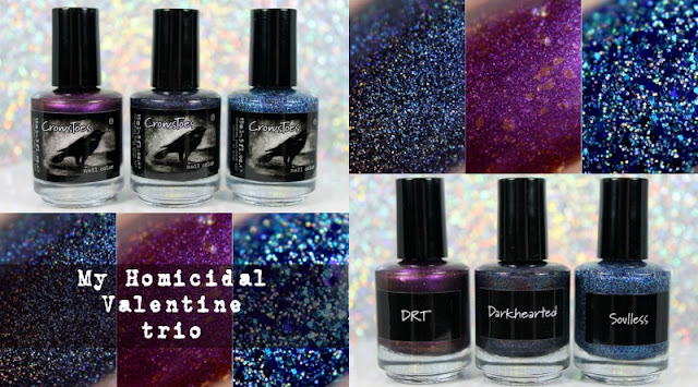 Crowstoes Nail Color My Homicidal Valentine Trio