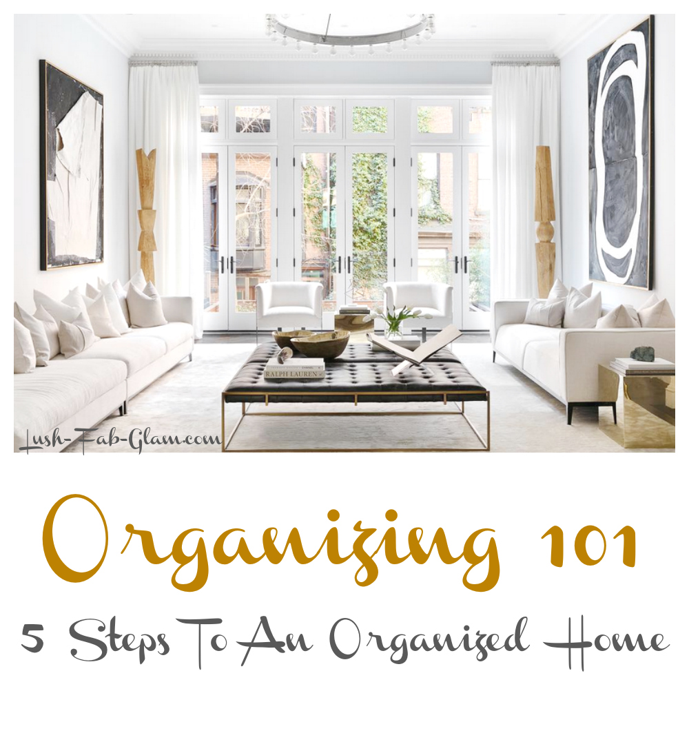 Spring is the perfect time to declutter & organize your home. See how to in 5 easy steps!