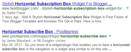 Stylish Horizontal Subscription Box