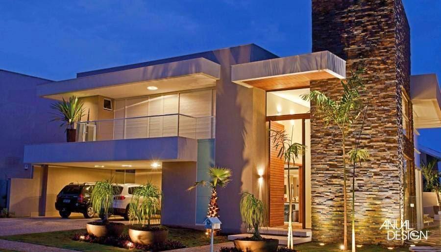 Fachadas on pinterest arquitetura google and modern houses for Fachada de casas modernas lujosas