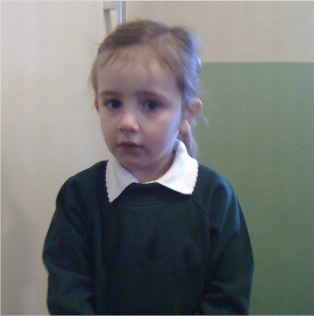 Sasha aged 3, in nursery uniform