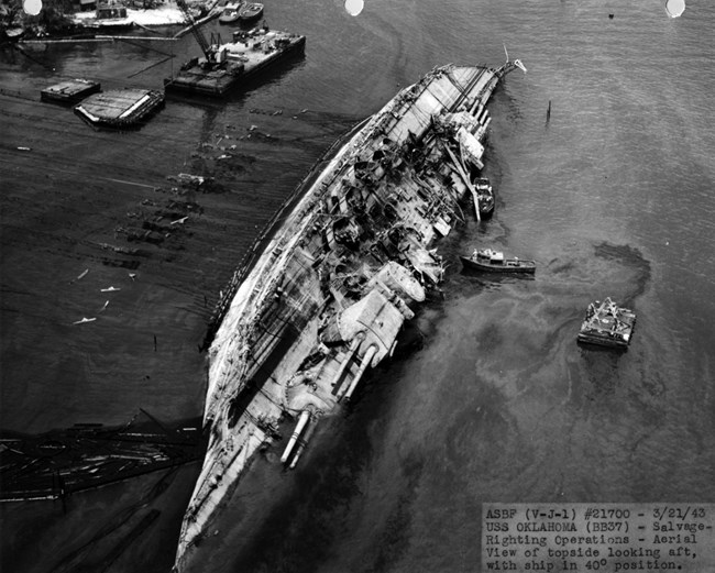 The USS Oklahoma being right in March 1943