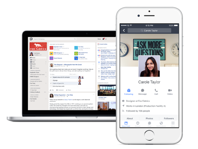 Facebook launched Workplace