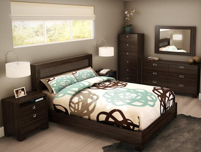 Kamar Tidur Sederhana - Abu-abu