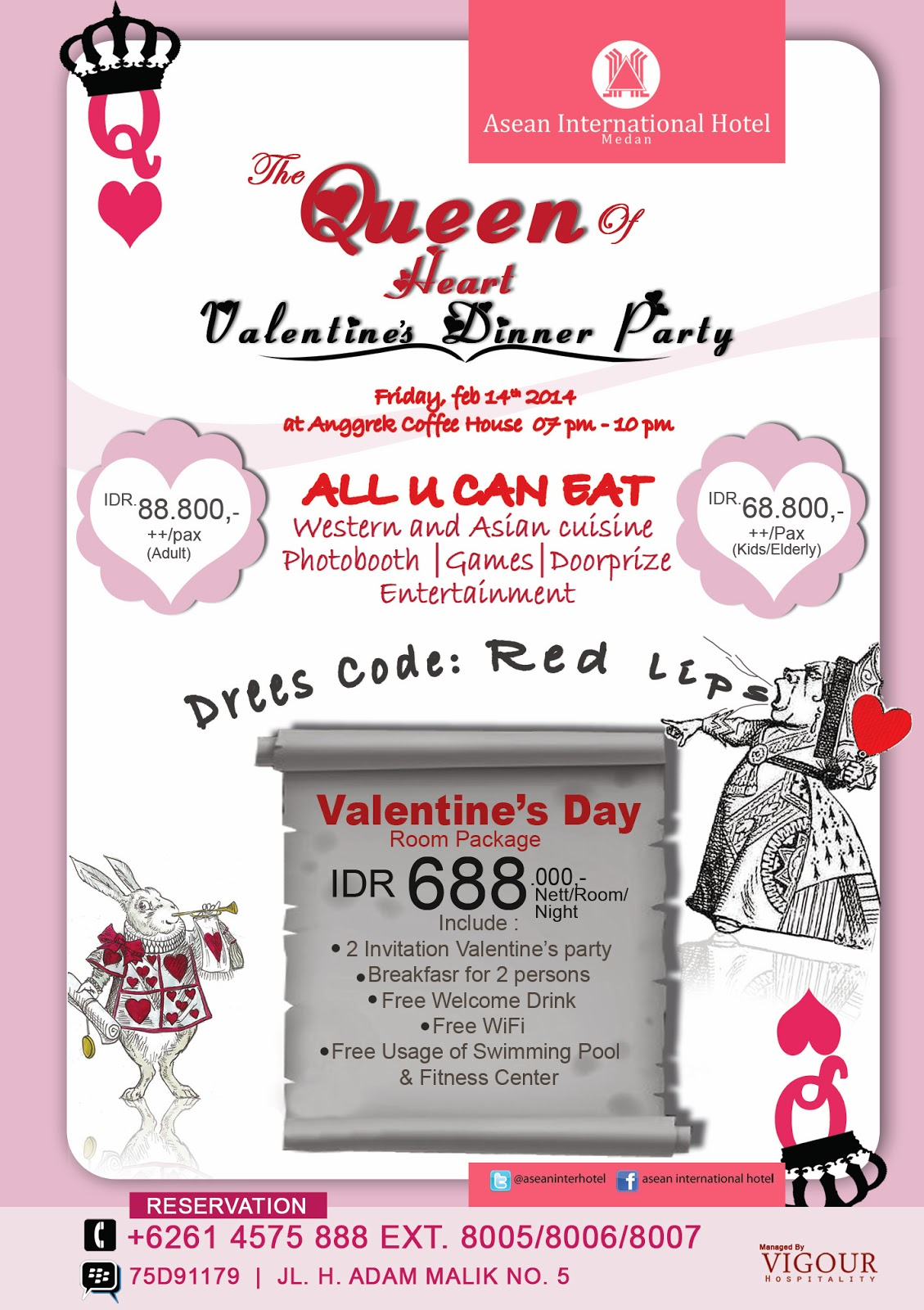 Queen of Heart Valentine's Dinner Party