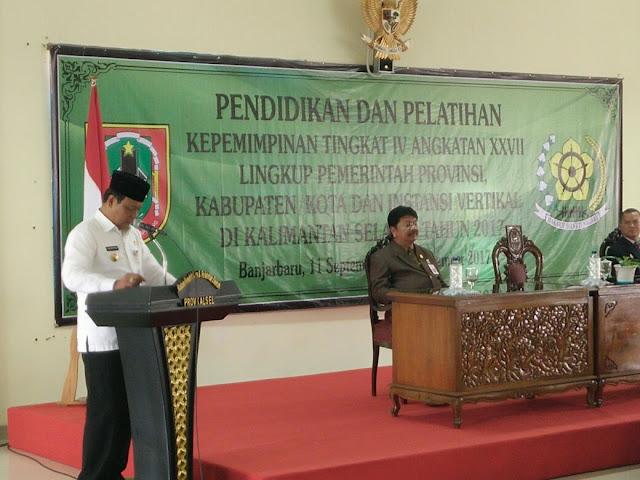 Gubernur Kalsel Tutup Diklatpim IV