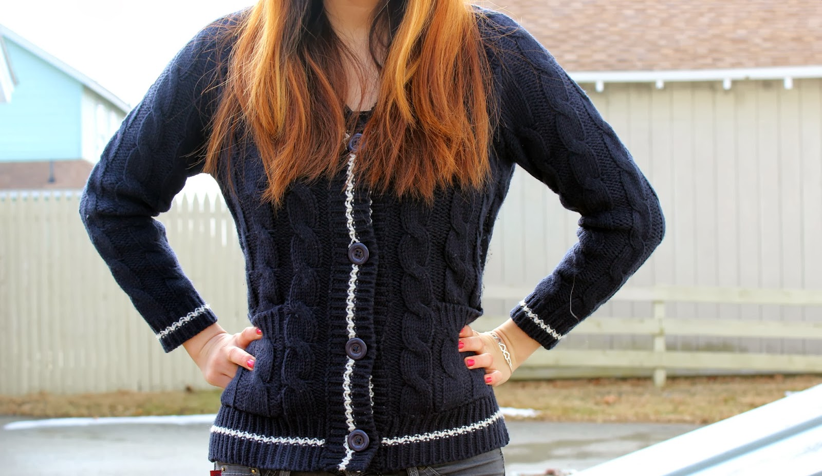 Preppy Trim Cardigan Dailylook