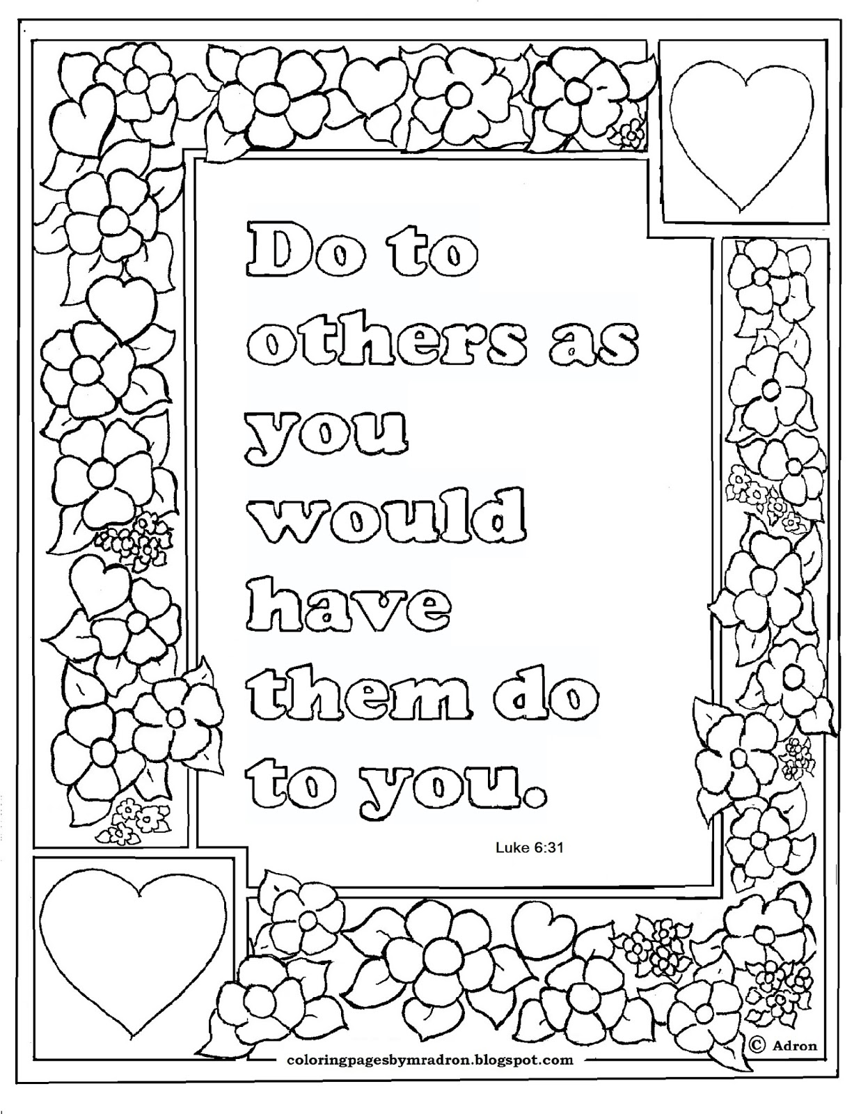 Luke 6 31 Coloring Page Coloring Pages