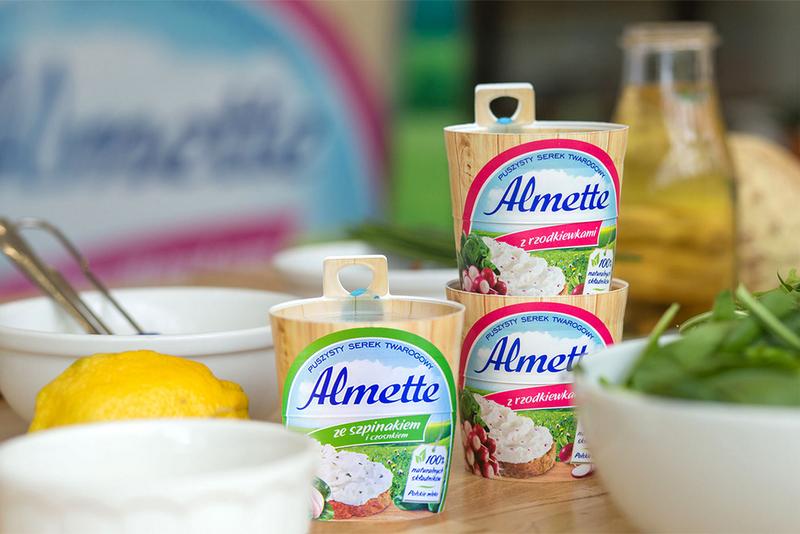 almette, almette z rzodkiewkami, almette ze szpinakiem, dania z almette, wiosenne smaki, zycie od kuchni