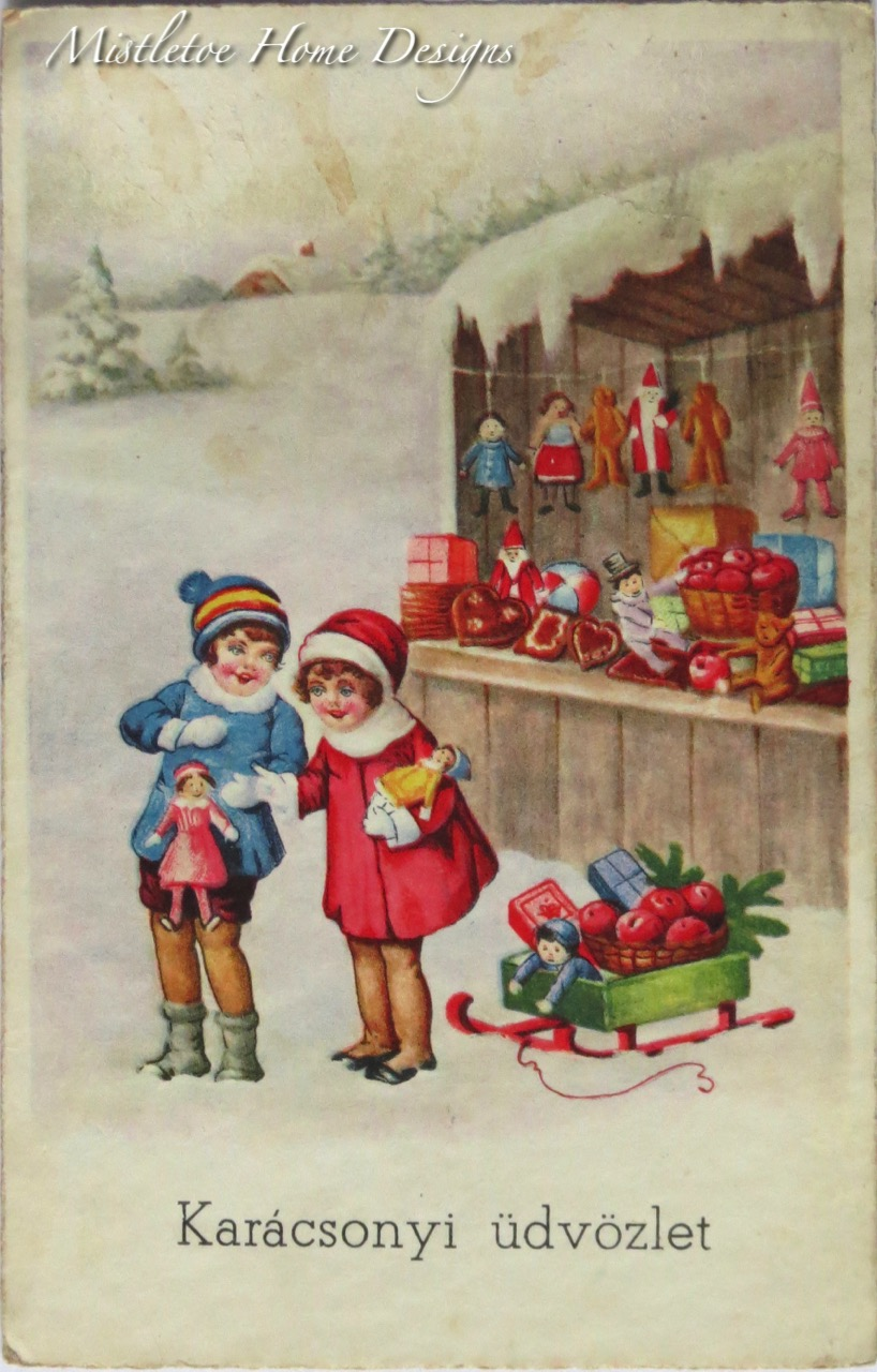 Mistletoe Home Designs: Vintage Hungarian Christmas cards #55
