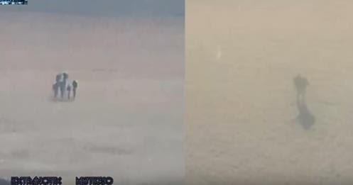 Homem Fotografa Figuras estranhas sobre as Nuvens do Avião de Passageiros e se torna Viral