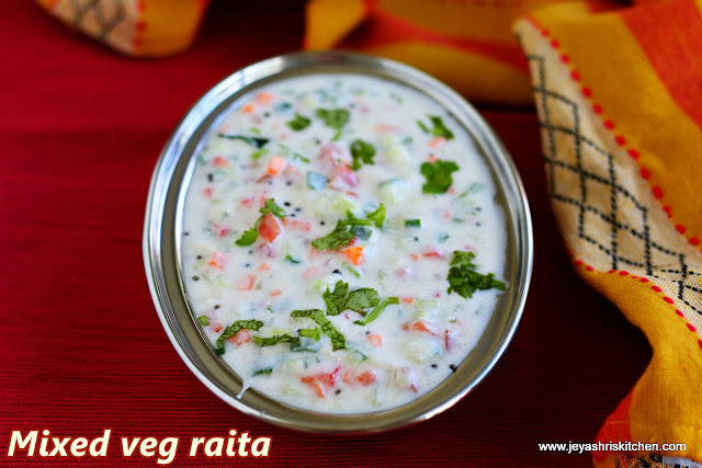 Mixed veg raita thayir pachadi south indian raita recipes i have already posted few raita recipes in jeyashris kitchen i made this mixed veg raita today to pair with bisi bela bath the meal i posted in my forumfinder Gallery