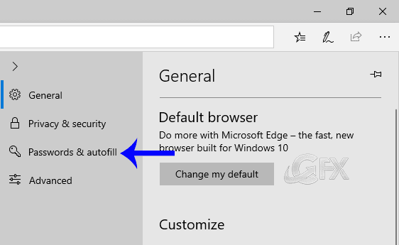 Stop Edge from saving credit card information in Windows 10