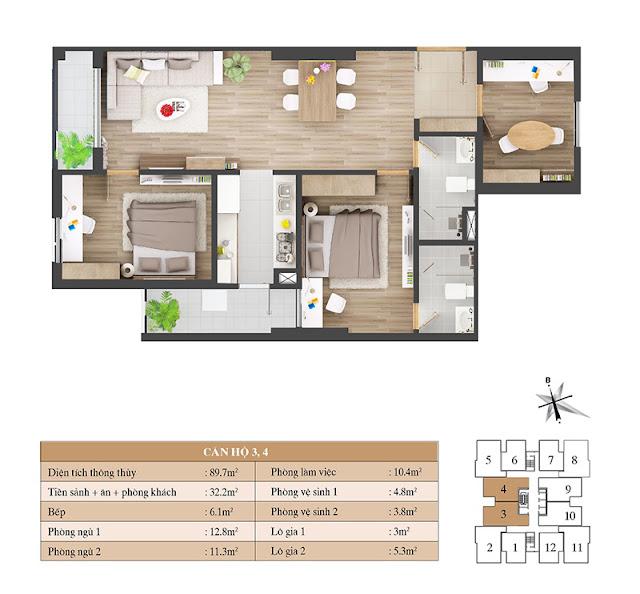 Thiết kế căn hộ 03 04
