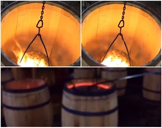 Toasting of oak barrels