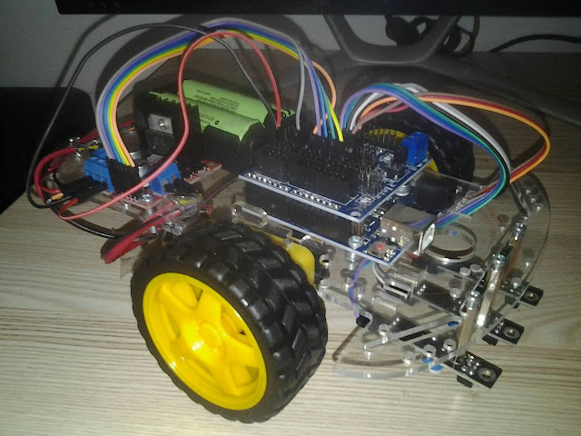 โปรเจค หุ่นยนต์เดินตามเส้น 3 เซ็นเซอร์ KY-033