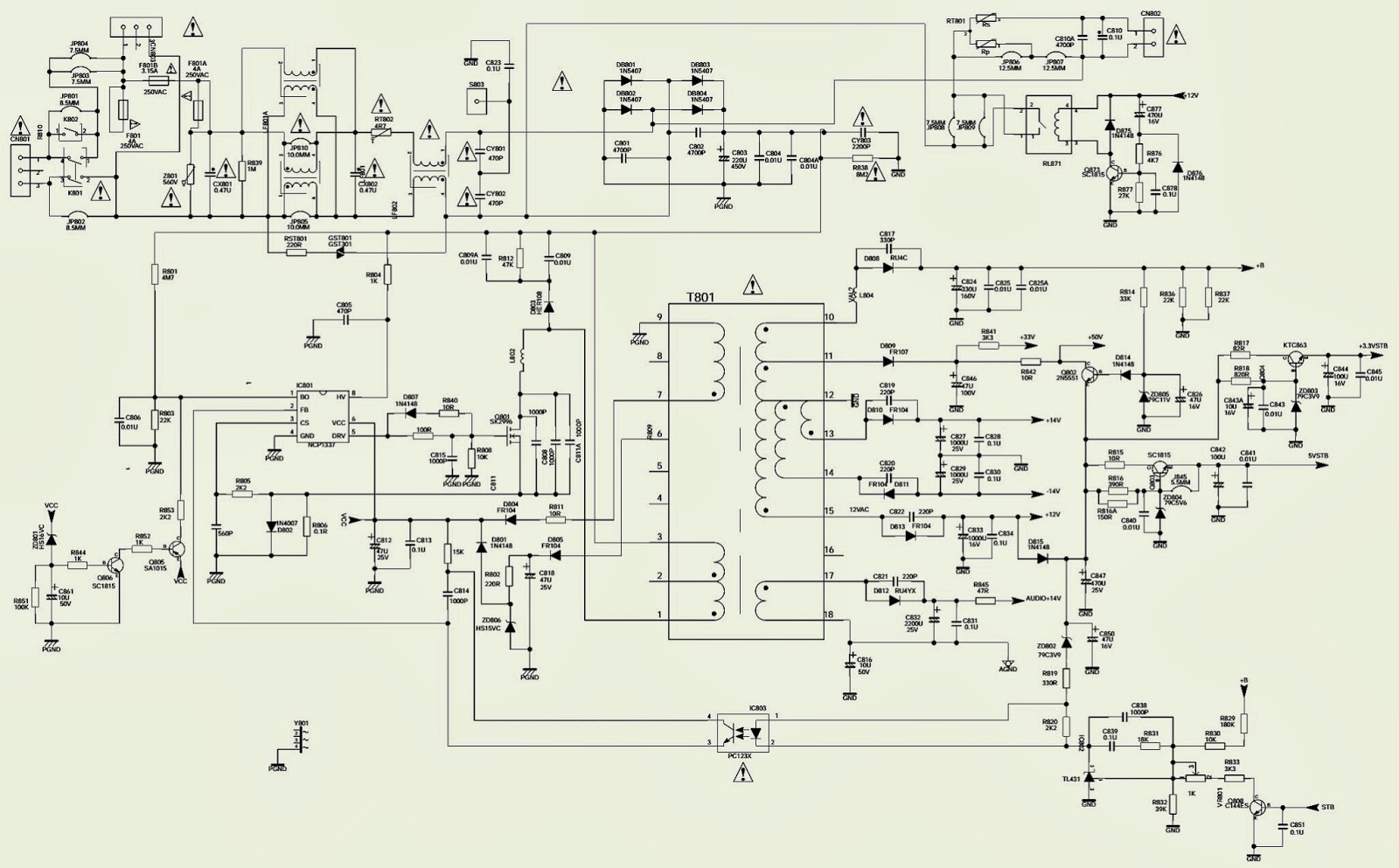 PHILCO PH29M SS TV - SCHEMATIC (CIRCUIT DIAGRAM) - Used ...