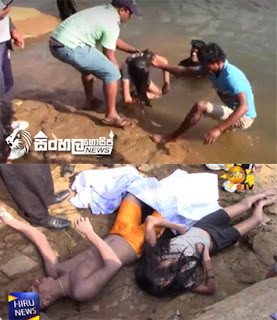 The bodies of the teens recovered from the Kelani River