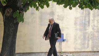 El juez federal Claudio Bonadio ingresa a los Tribunales Federales de Retiro. FOTO PEDRO LAZARO FERNANDEZ
