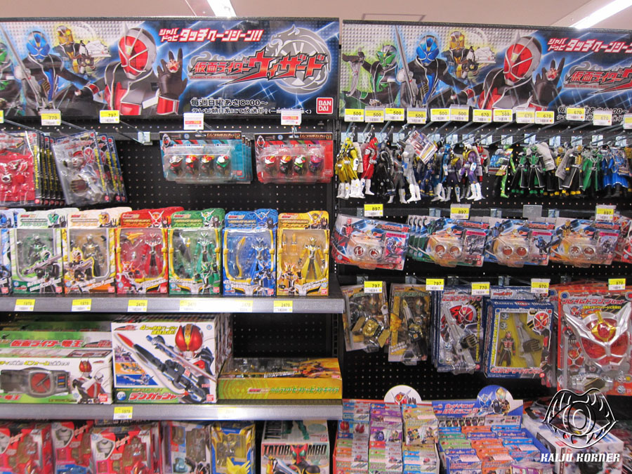 Kaiju Korner Kamen Rider Store Racks