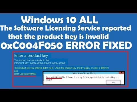 Easiest Way to Fix Windows Error code 0xc004f050