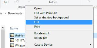 圖檔右 Click 可直接以預設 App 作編輯