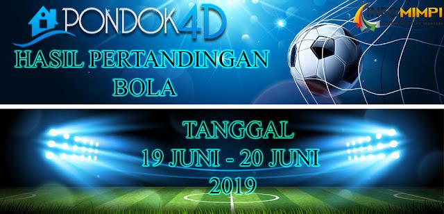 HASIL PERTANDINGAN BOLA TANGGAL 19 JUNI –  20 JUNI 2019