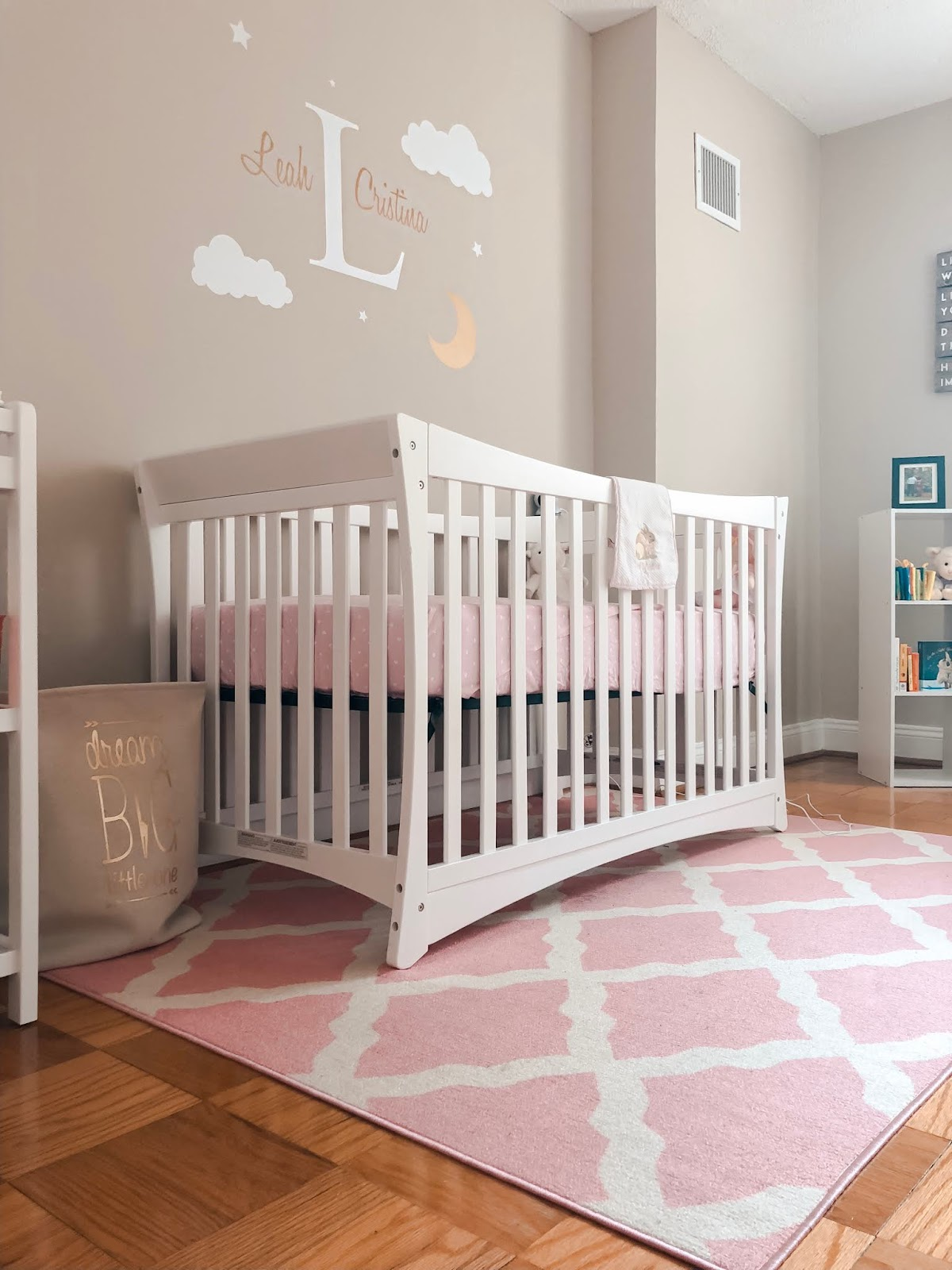 Baby Nurseries 2019 Pink, Grey, u0026 Gold Baby Girl Nursery Room