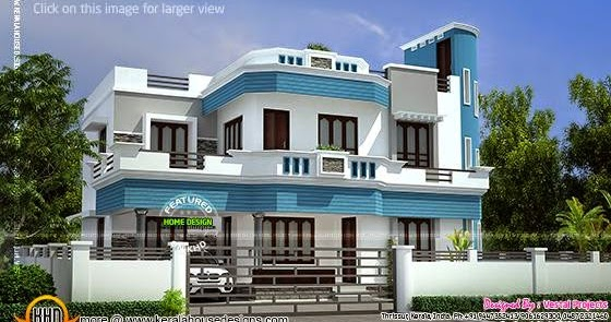 Kerala home design and floor plans awesome house by for Kerala home exterior design photos