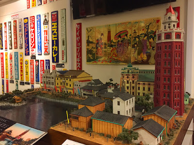 Scale model of old Asakusa, foyer of That's ZENtertainment, Yumemachi Restaurant Theater, Asakusa.