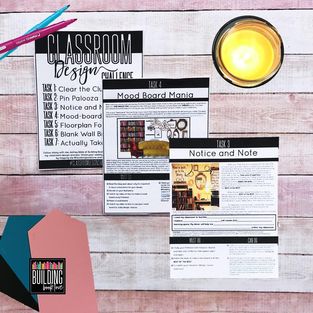 Classroom Design Challenge ~ Building book love classroom design challenge planning