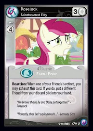 MLP Roseluck, Fainthearted Filly Canterlot Nights CCG Card