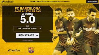 betfair supercuota victoria del Barcelona al Athletic 28 octubre