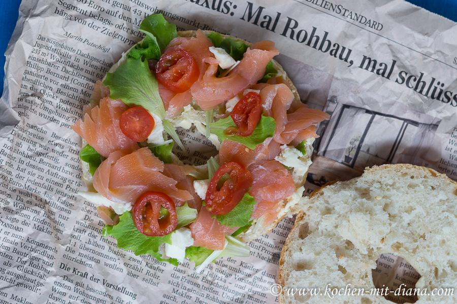 Bagel mit Lachs