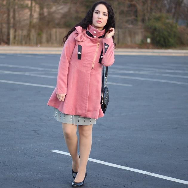 Rosegal Pink Coat