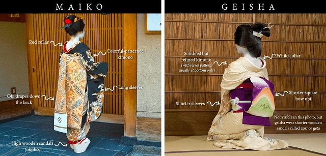 Perbedaan antara Maiko dan Geisha
