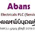 Vacancy In Abans Electricals PLC (Service Dept.)