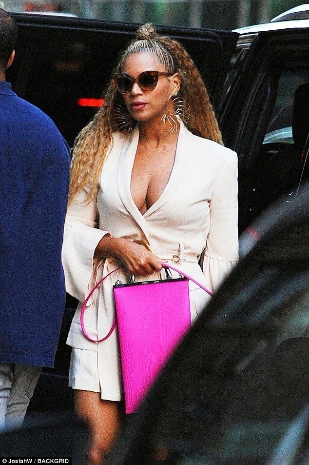 Beyoncé puts on a busty display as she steps out with Jay-Z in NYC