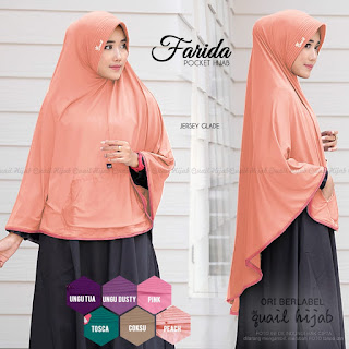 farida (pocket hijab) quail