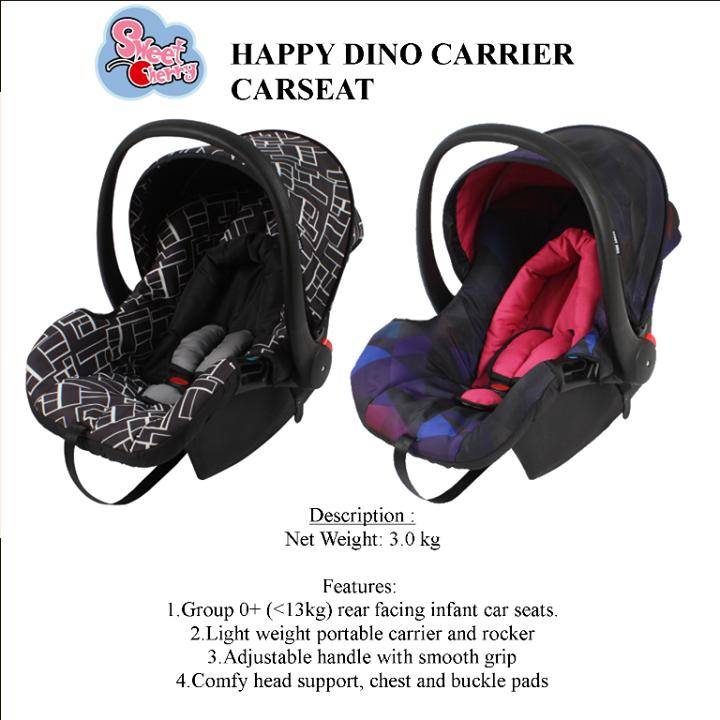 Dino Car Seat >> Sweet Cherry Gb26 Happy Dino Carseat Produkbaby Office