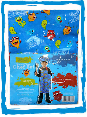 Chef's Apron Set for Children in Blue