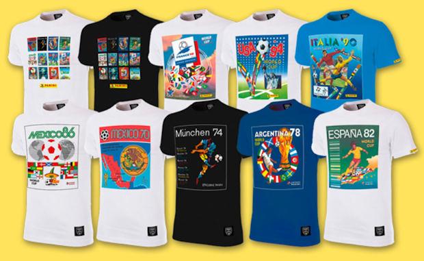 08770459f 2018. Panini Heritage FIFA World Cup T-Shirt Panini 9 designs