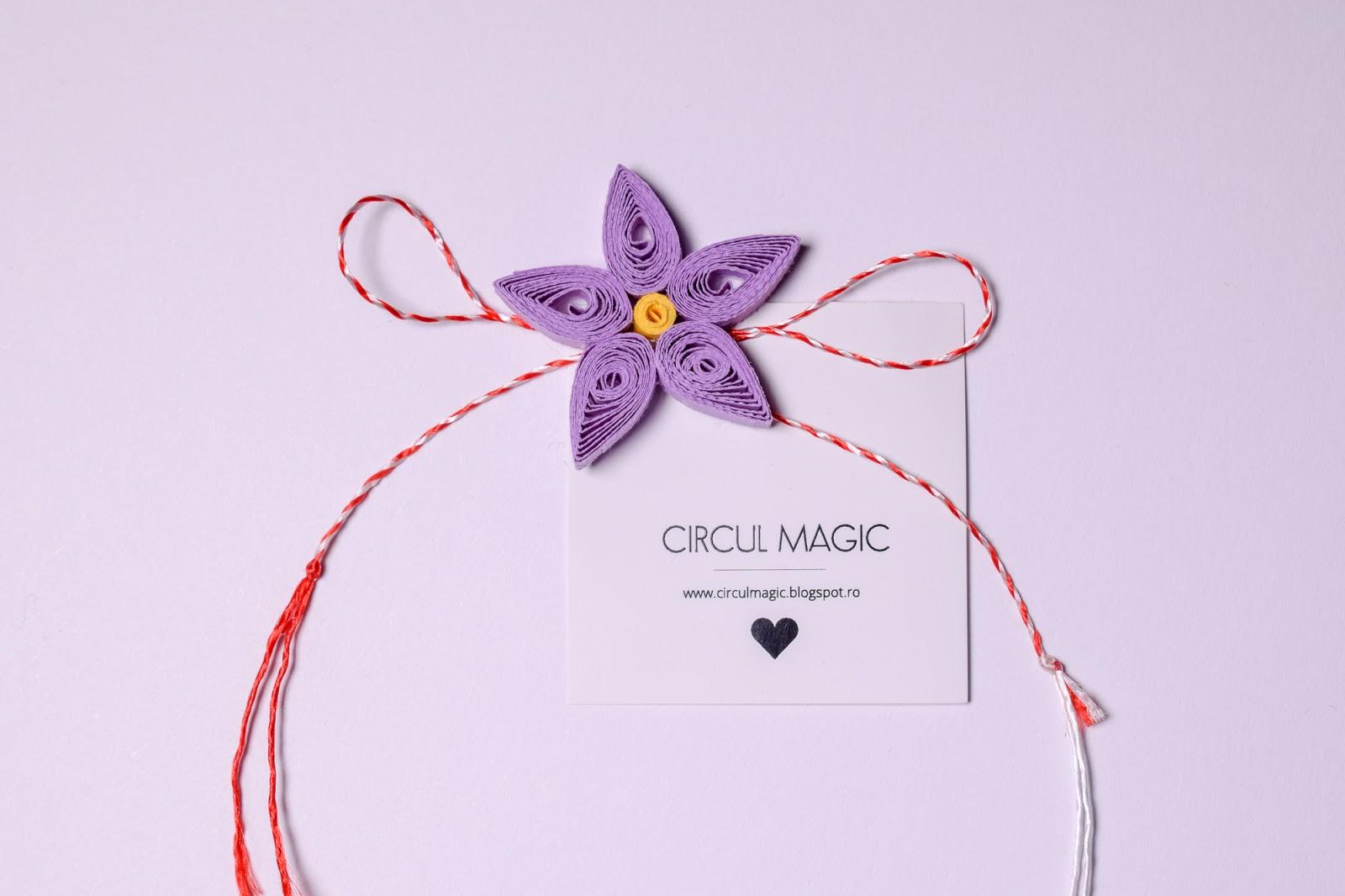 Martisoare Handmade 2018 Quilling - Circul Magic