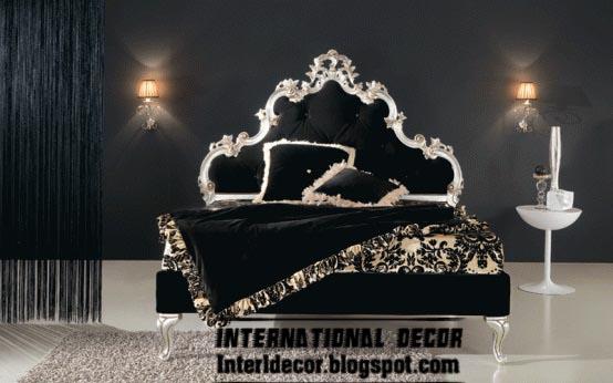 Luxury Black Bed Royal Design Headboard For Kings Bedroom Furniture