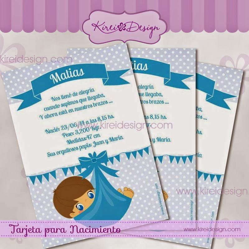 Tarjetas Para Nacimiento Y Baby Shower Para Niños Y Niñas Kireidesign