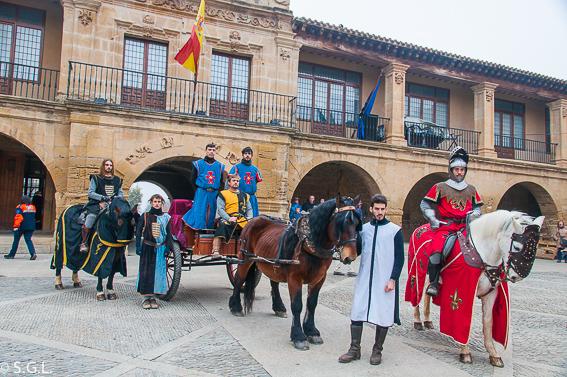 Caballeros en el mercado medieval en Santo Domingo de la Calzada. La Rioja