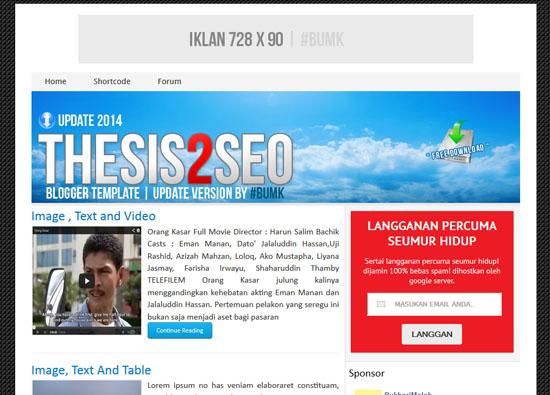 Penggunaan Template Mesra SEO untuk Google Adsense
