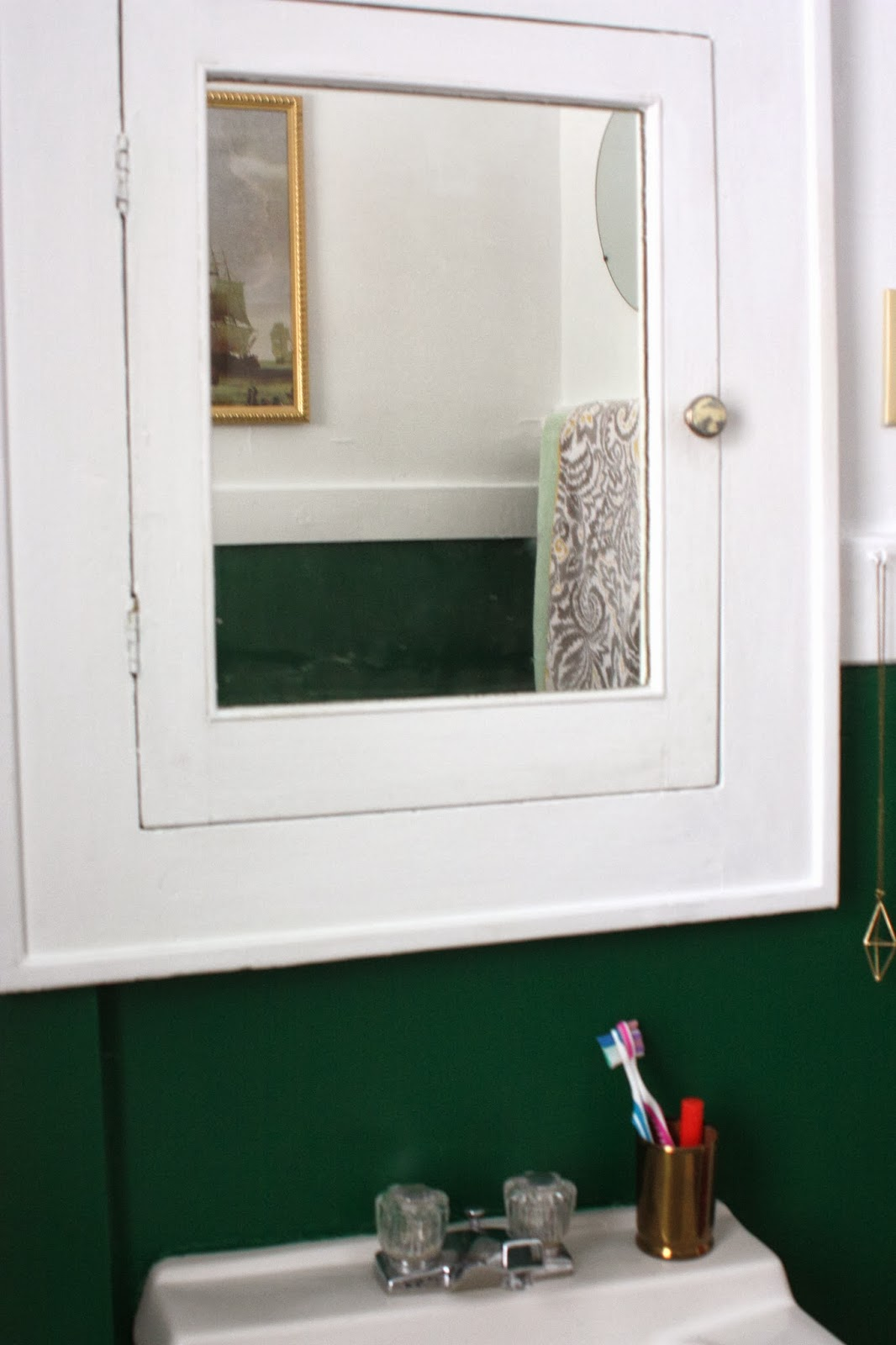 Bathroom Paint Before And After Forest Green Crisp White Young Branch