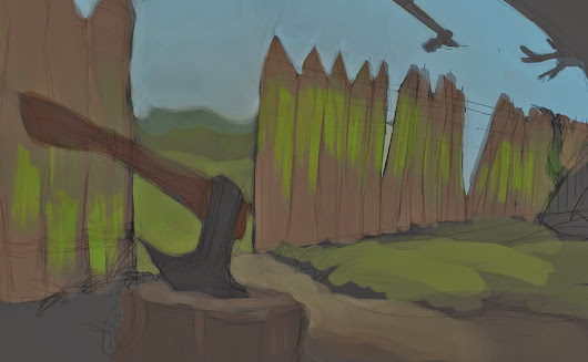 Asterix Background painting practice